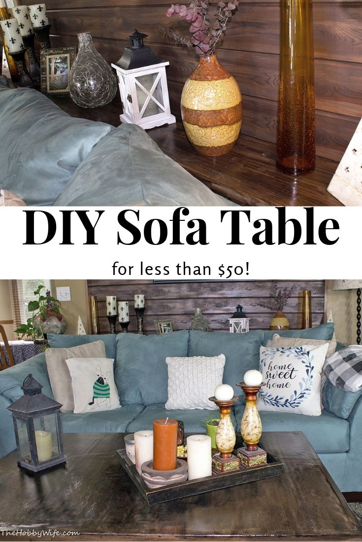 Fine Diy Console Table Archives The Hobby Wife Machost Co Dining Chair Design Ideas Machostcouk