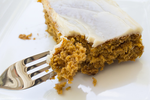 Frosted Pumpkin Spice Cake