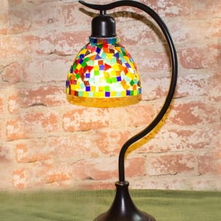 DIY Tiffany Style Lamp Shade Makeover