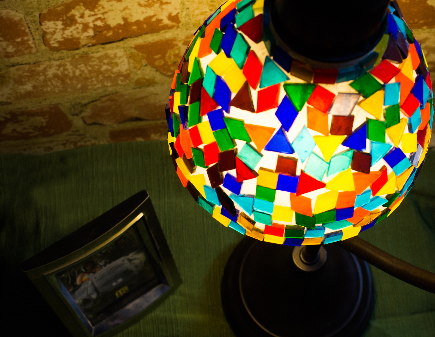DIY Tiffany Style Lamp Shade Makeover